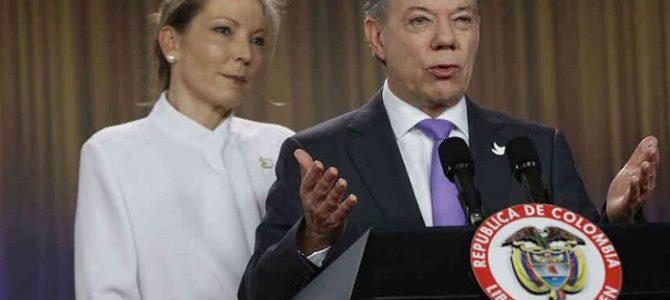 El presidente de Colombia Juan Manuel Santos recibe el premio Nobel de la Paz 2016