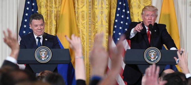 Trump felicita a Santos por el proceso de paz