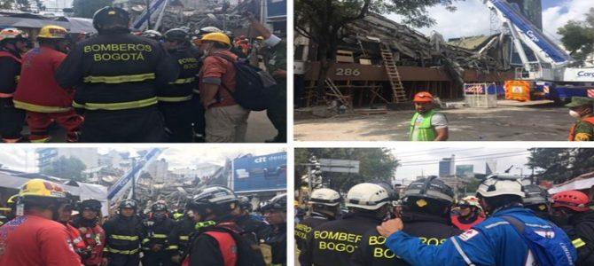 Rescatistas colombianos seguirán en México
