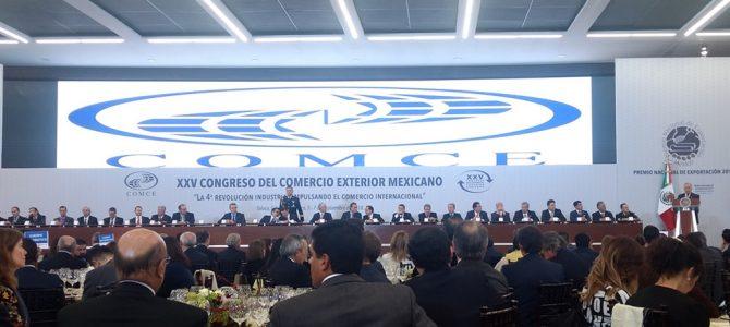 Exitoso XXV Congreso de comercio exterior mexicano, organizado por el COMCE