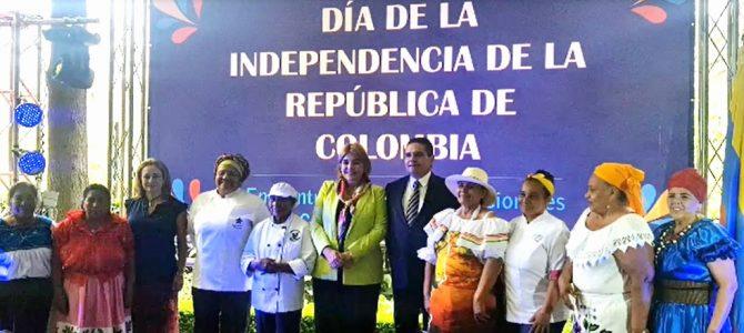 Celebración del Día nacional de Colombia en México
