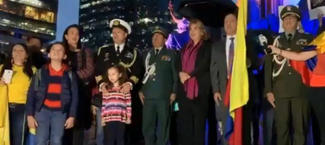 Celebran colombianos en México, el Bicentenario de la Batalla de Boyacá