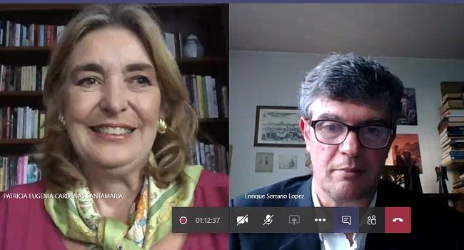 """""""Colombia, huella discreta de la Nación"""", conversación virtual con el escritor colombiano Enrique Serrano López"""